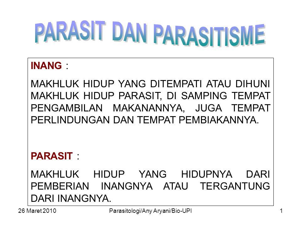 PARASIT DAN PARASITISME