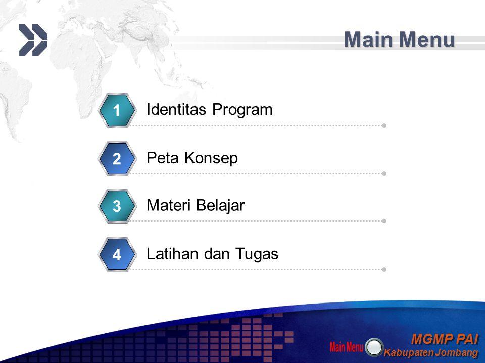 Main Menu 1 Identitas Program 2 Peta Konsep 3 Materi Belajar 4