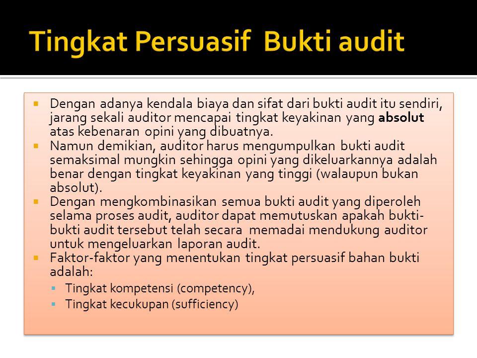 Tingkat Persuasif Bukti audit