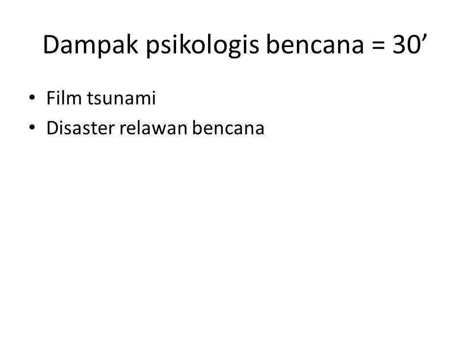 Dampak psikologis bencana = 30'