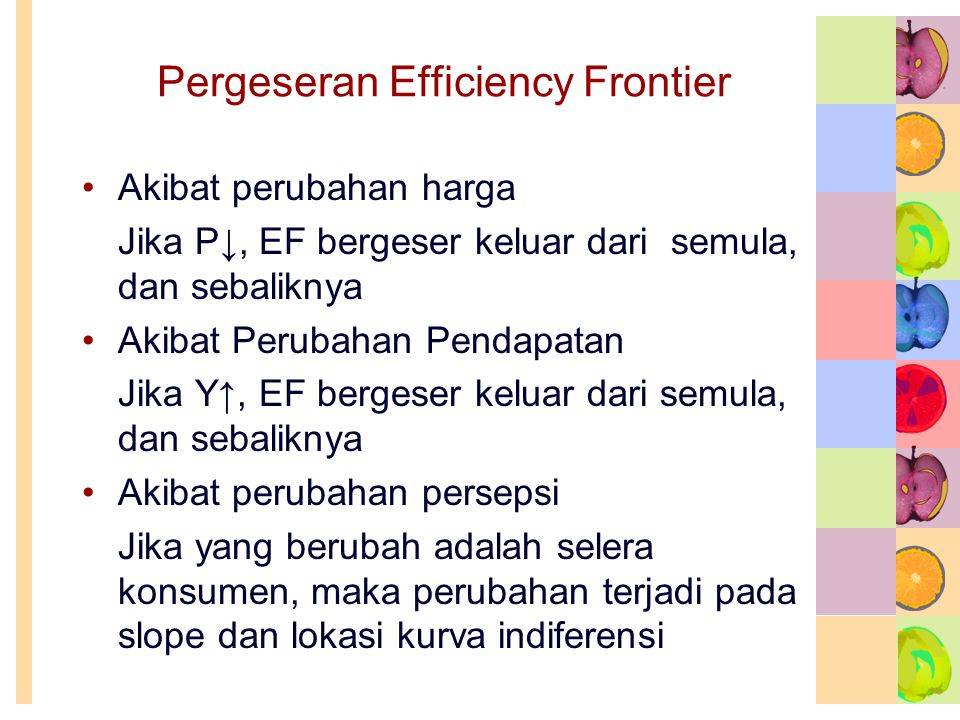 Pergeseran Efficiency Frontier