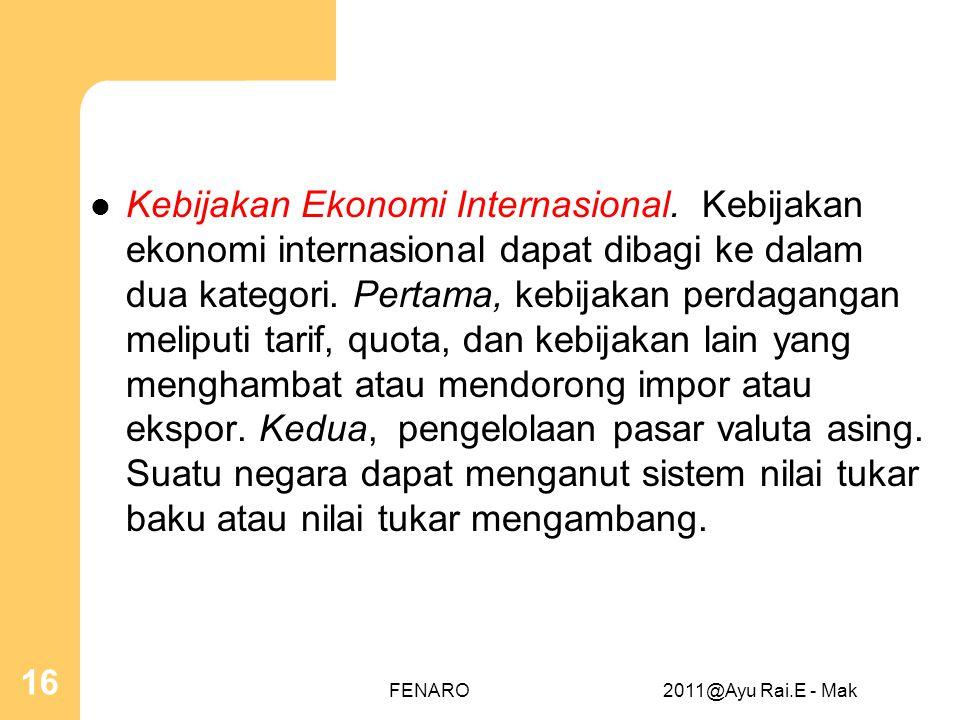 Kebijakan Ekonomi Internasional