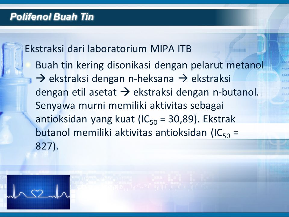 Ekstraksi dari laboratorium MIPA ITB