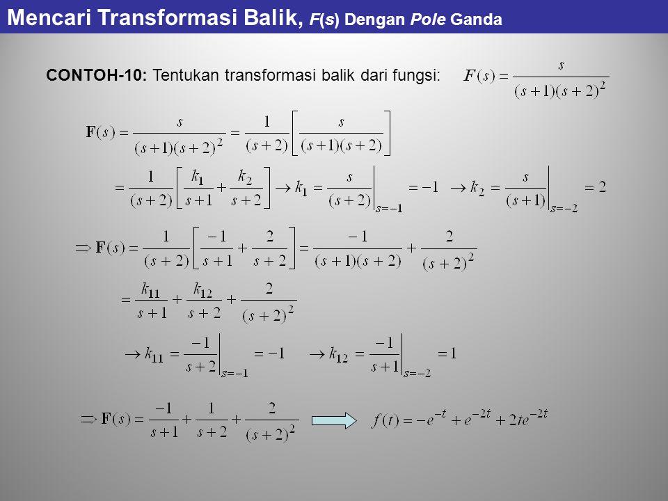 Mencari Transformasi Balik, F(s) Dengan Pole Ganda