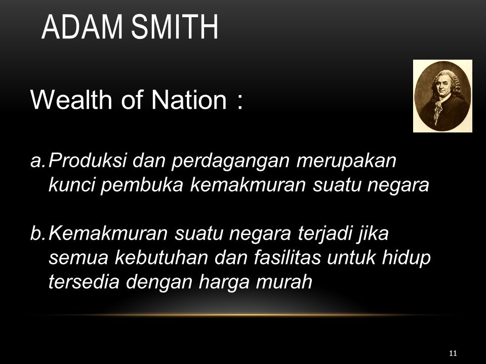 Adam Smith Wealth of Nation :