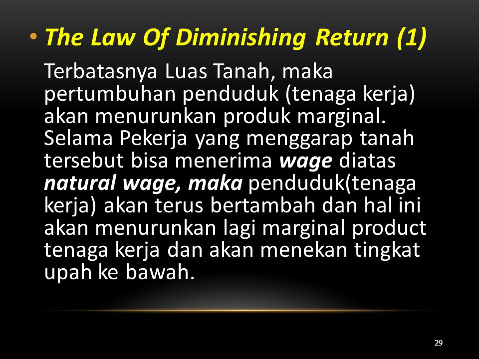 The Law Of Diminishing Return (1)