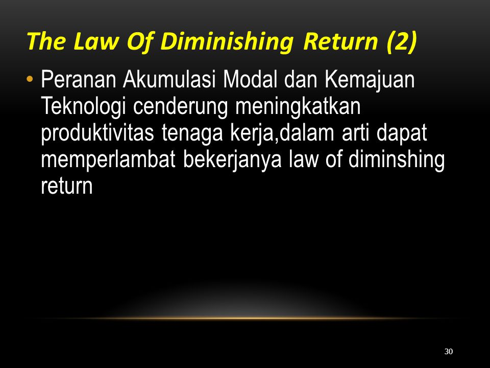 The Law Of Diminishing Return (2)