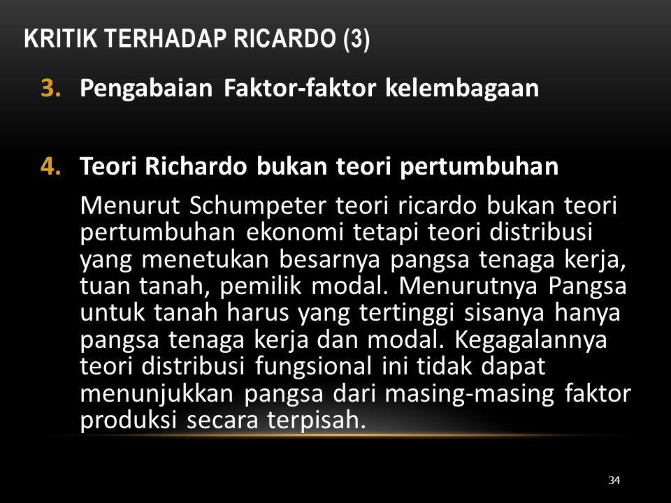 Kritik Terhadap Ricardo (3)