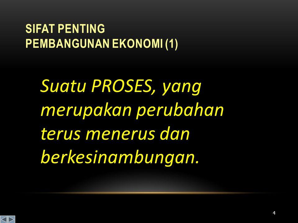 Sifat Penting Pembangunan Ekonomi (1)