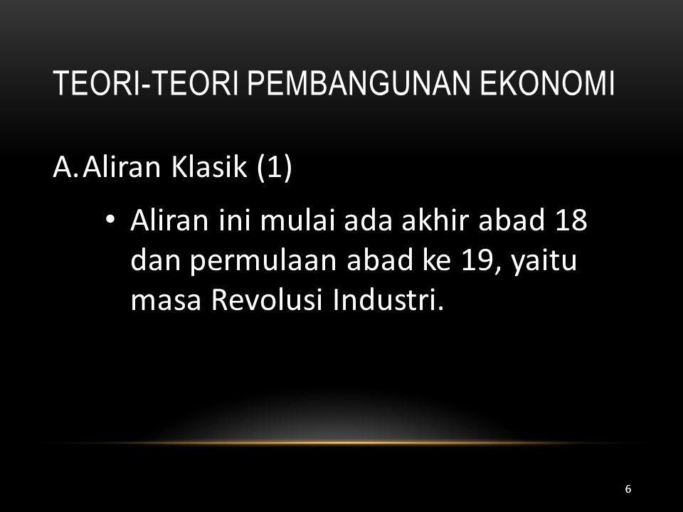 Teori-Teori Pembangunan Ekonomi