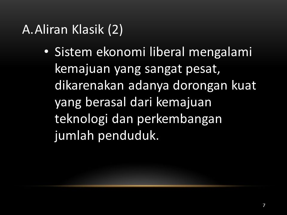 Aliran Klasik (2)