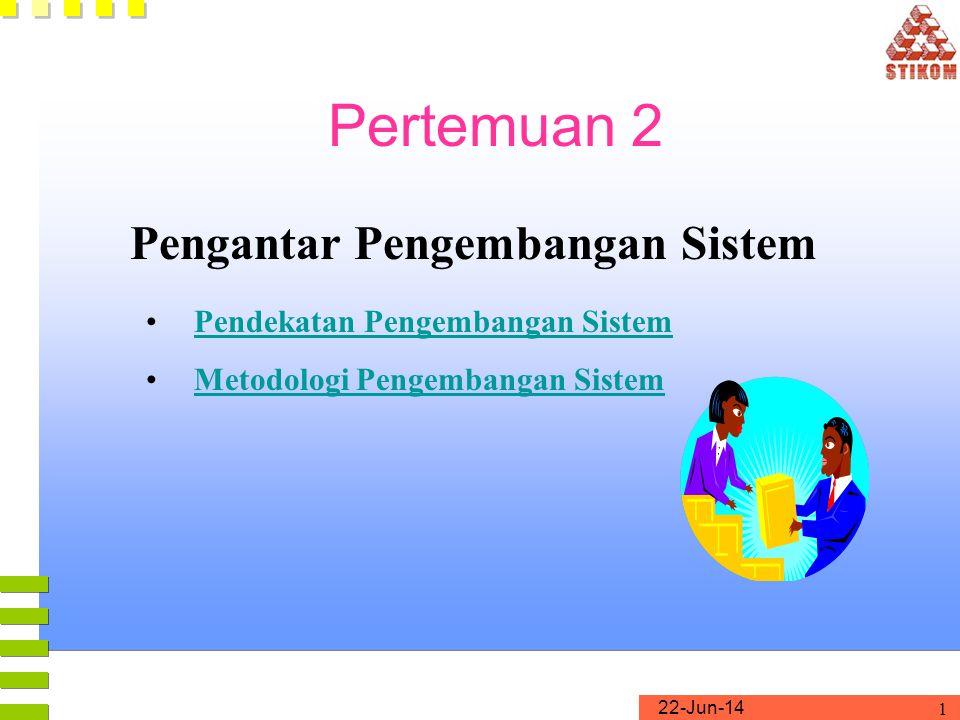 Pertemuan 2 Pengantar Pengembangan Sistem