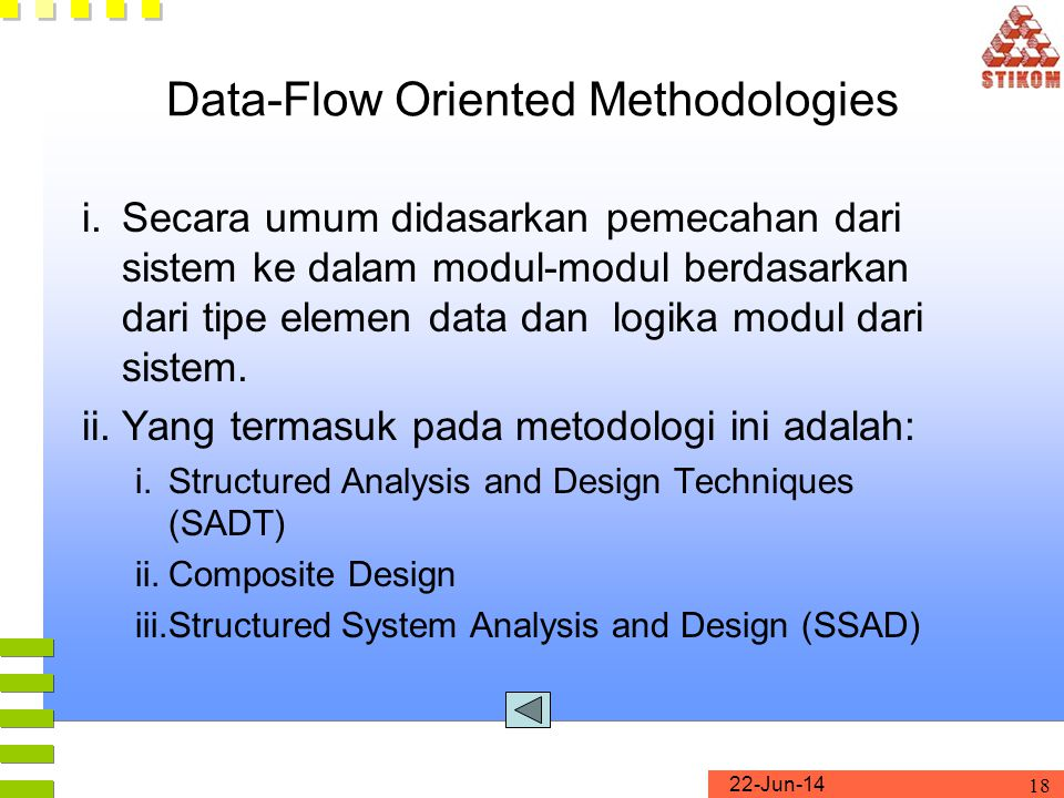Data-Flow Oriented Methodologies