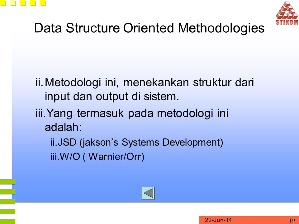 Data Structure Oriented Methodologies