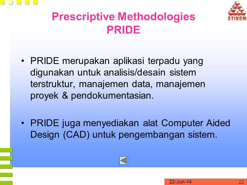 Prescriptive Methodologies PRIDE