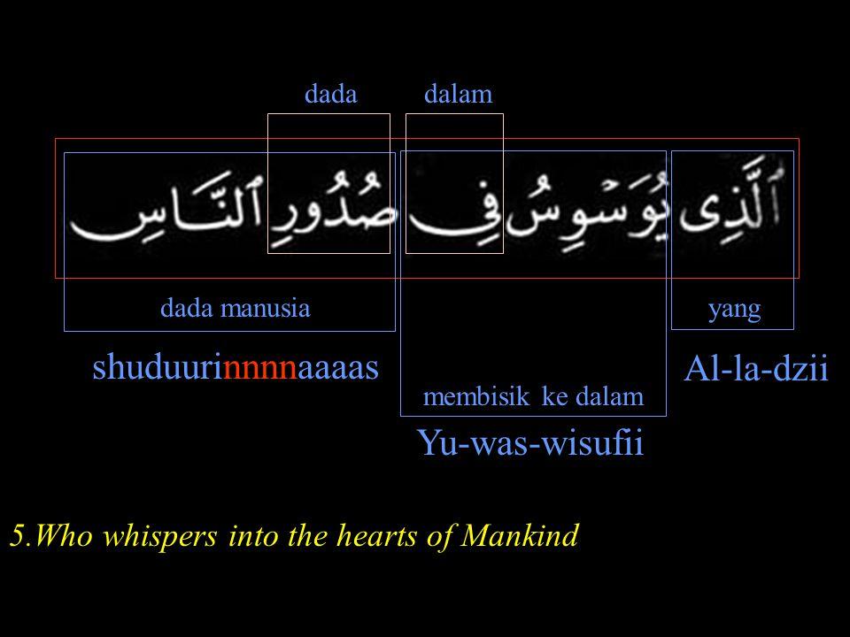shuduurinnnnaaaas Al-la-dzii Yu-was-wisufii
