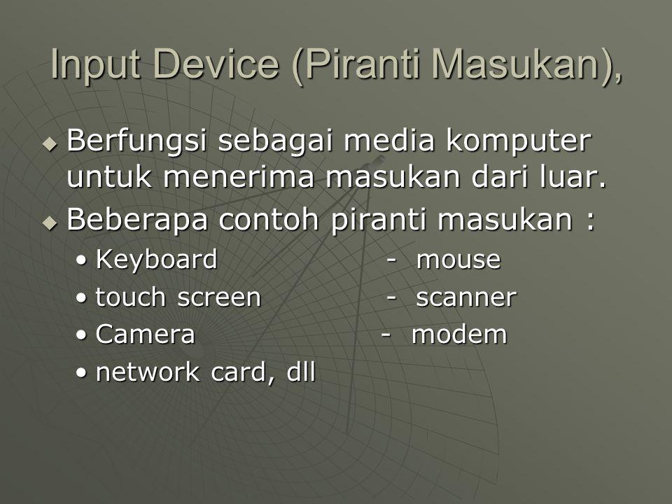 Input Device (Piranti Masukan),