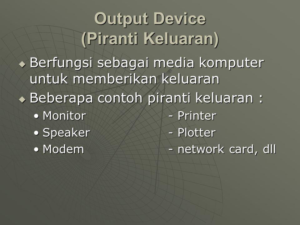 Output Device (Piranti Keluaran)