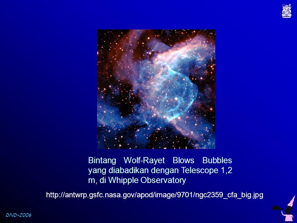 Bintang Wolf-Rayet Blows Bubbles yang diabadikan dengan Telescope 1,2 m, di Whipple Observatory