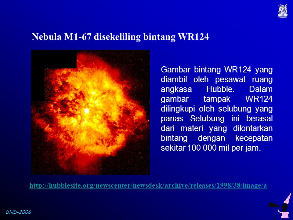 Nebula M1-67 disekeliling bintang WR124