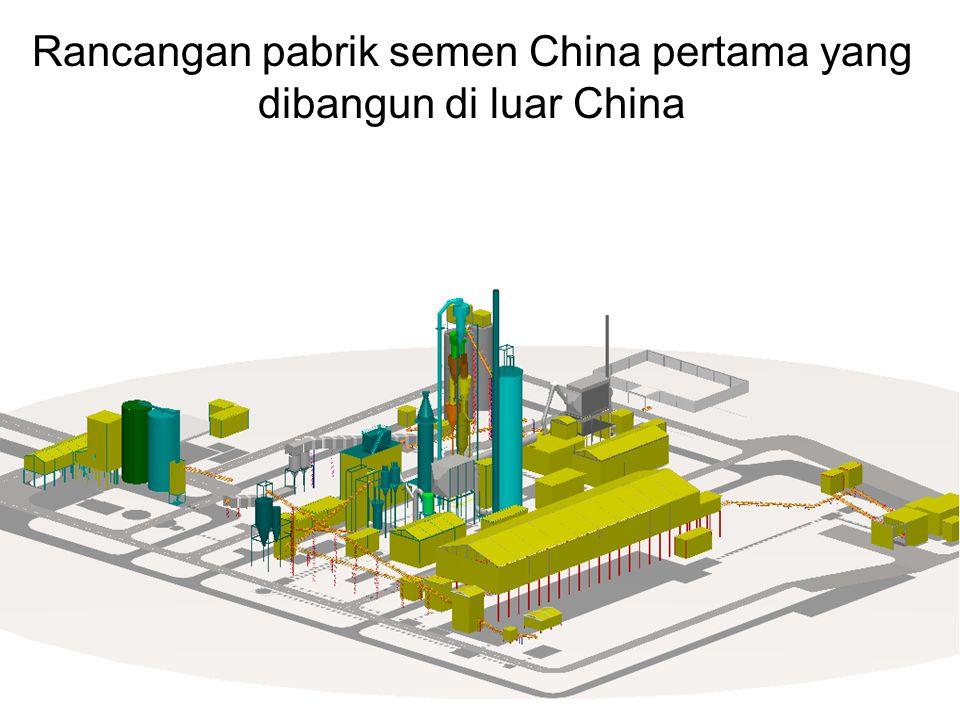 Rancangan pabrik semen China pertama yang dibangun di luar China