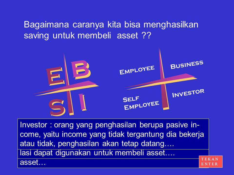 Bagaimana caranya kita bisa menghasilkan saving untuk membeli asset