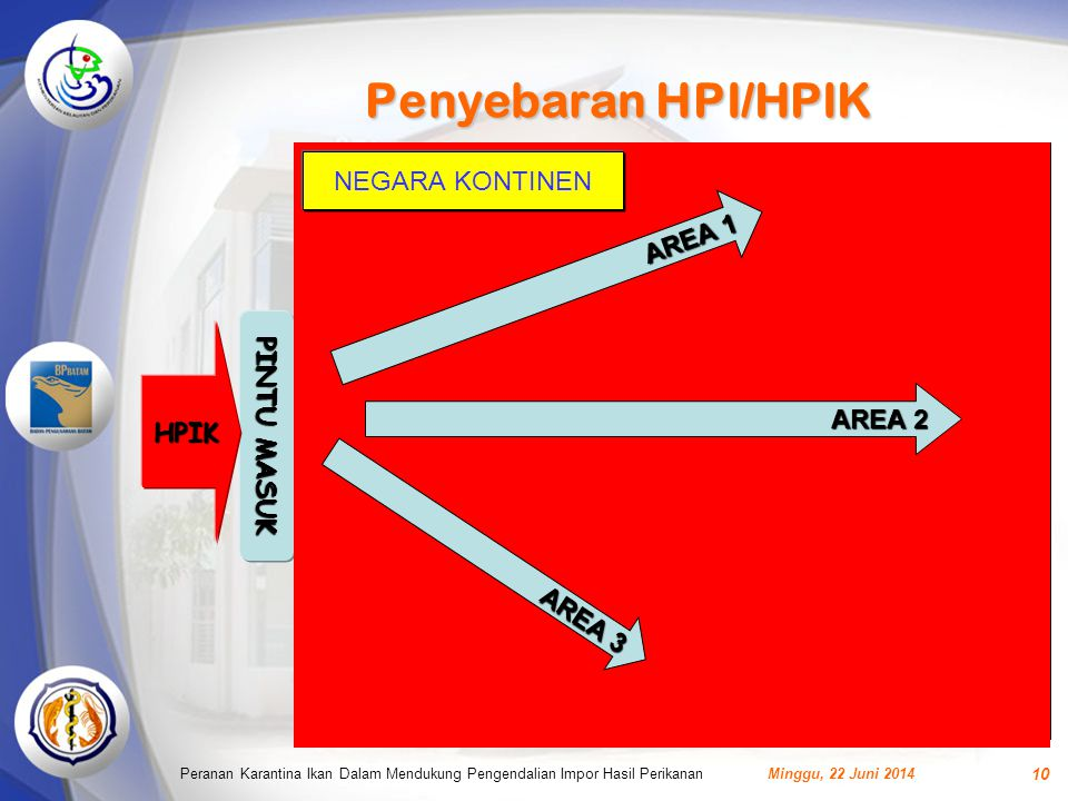 Penyebaran HPI/HPIK NEGARA KONTINEN AREA 1 PINTU MASUK HPIK AREA 2