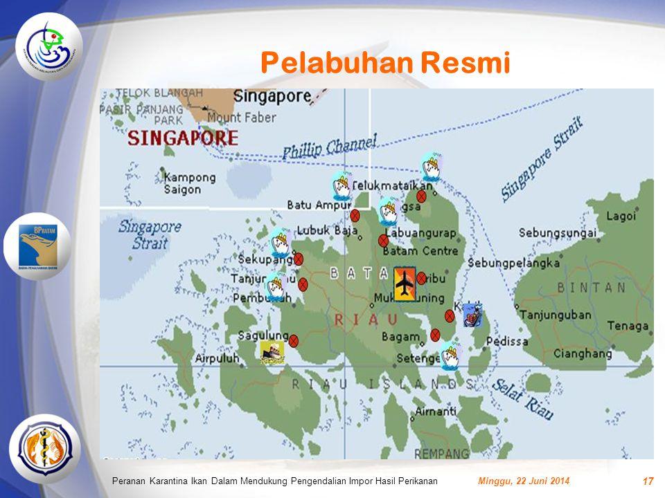 Pelabuhan Resmi Peranan Karantina Ikan Dalam Mendukung Pengendalian Impor Hasil Perikanan.