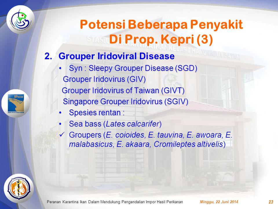 Potensi Beberapa Penyakit Di Prop. Kepri (3)