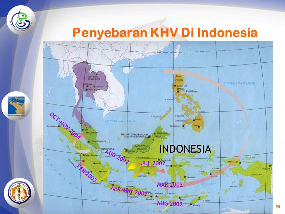 Penyebaran KHV Di Indonesia
