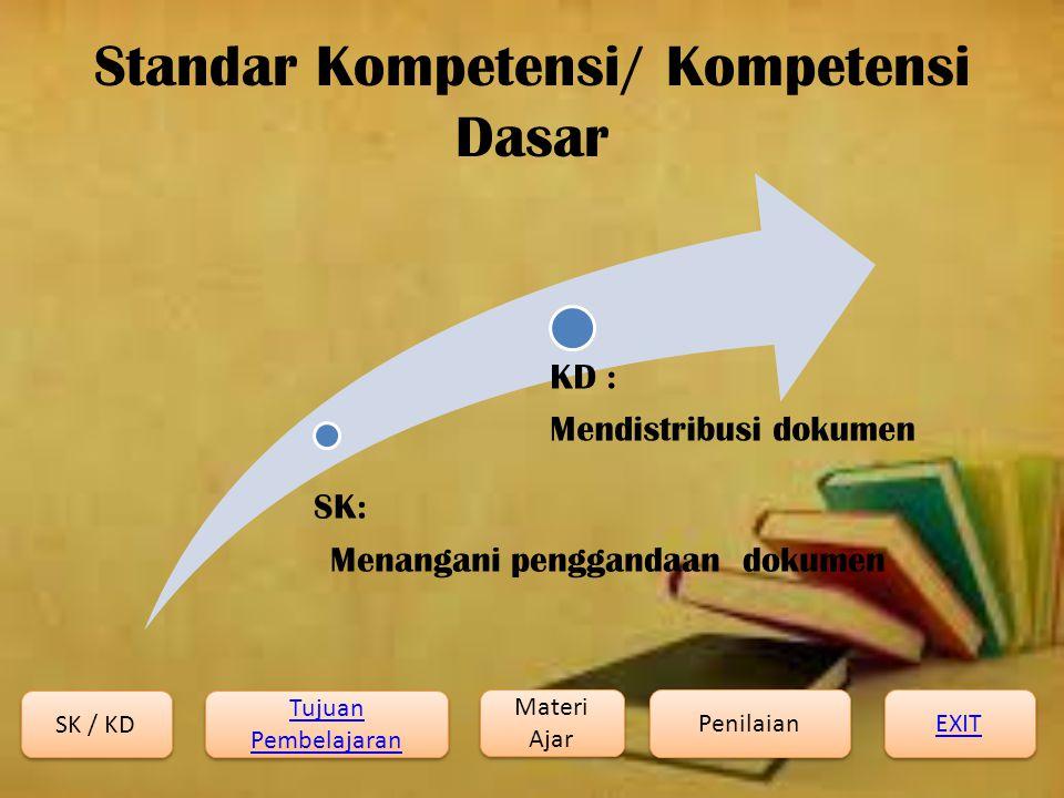 Standar Kompetensi/ Kompetensi Dasar
