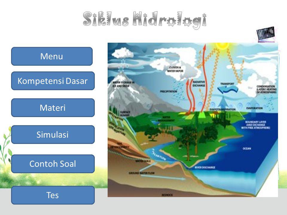 Siklus Hidrologi Menu Kompetensi Dasar Materi Simulasi Contoh Soal Tes