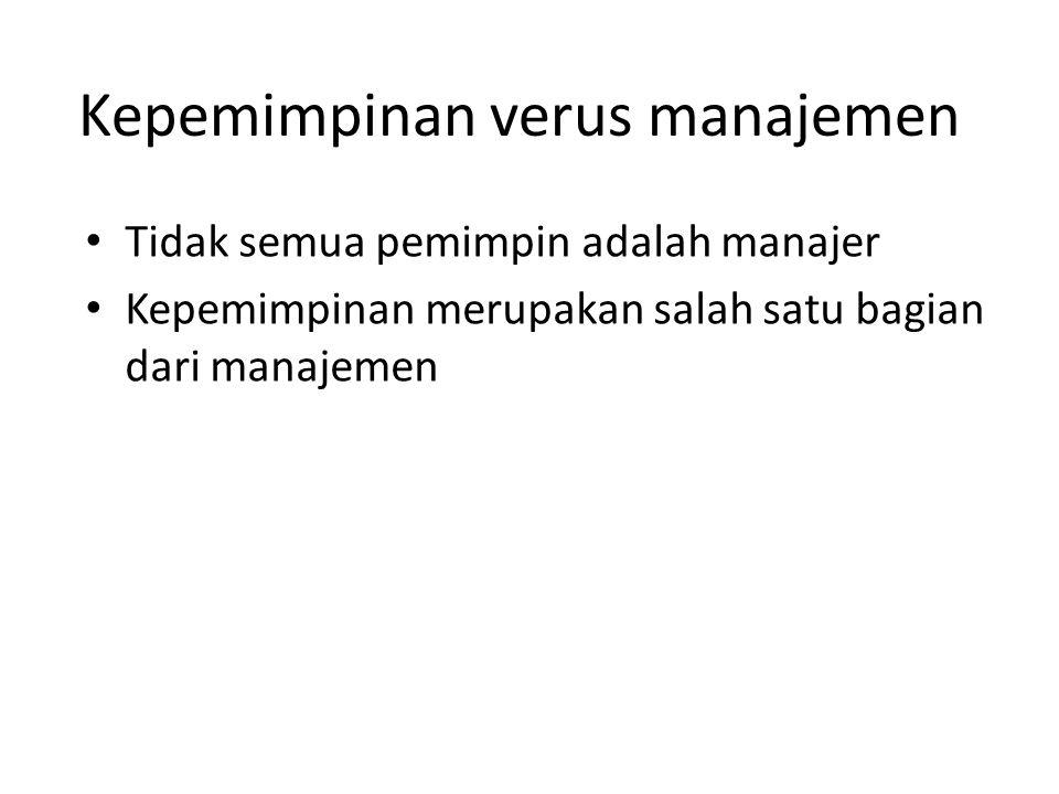 Kepemimpinan verus manajemen