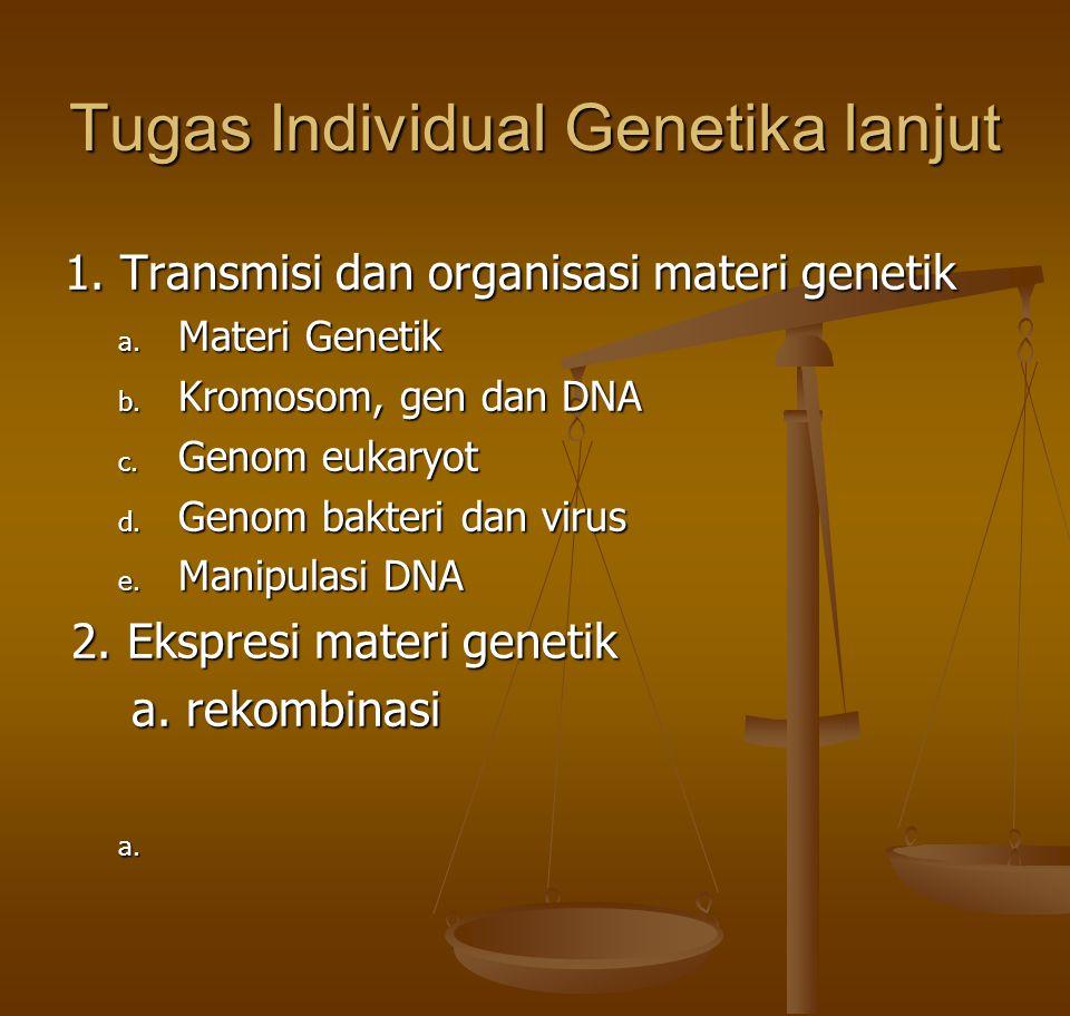 Tugas Individual Genetika lanjut