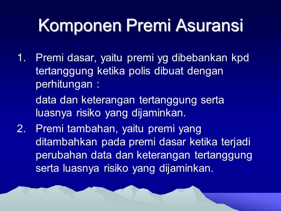 Komponen Premi Asuransi