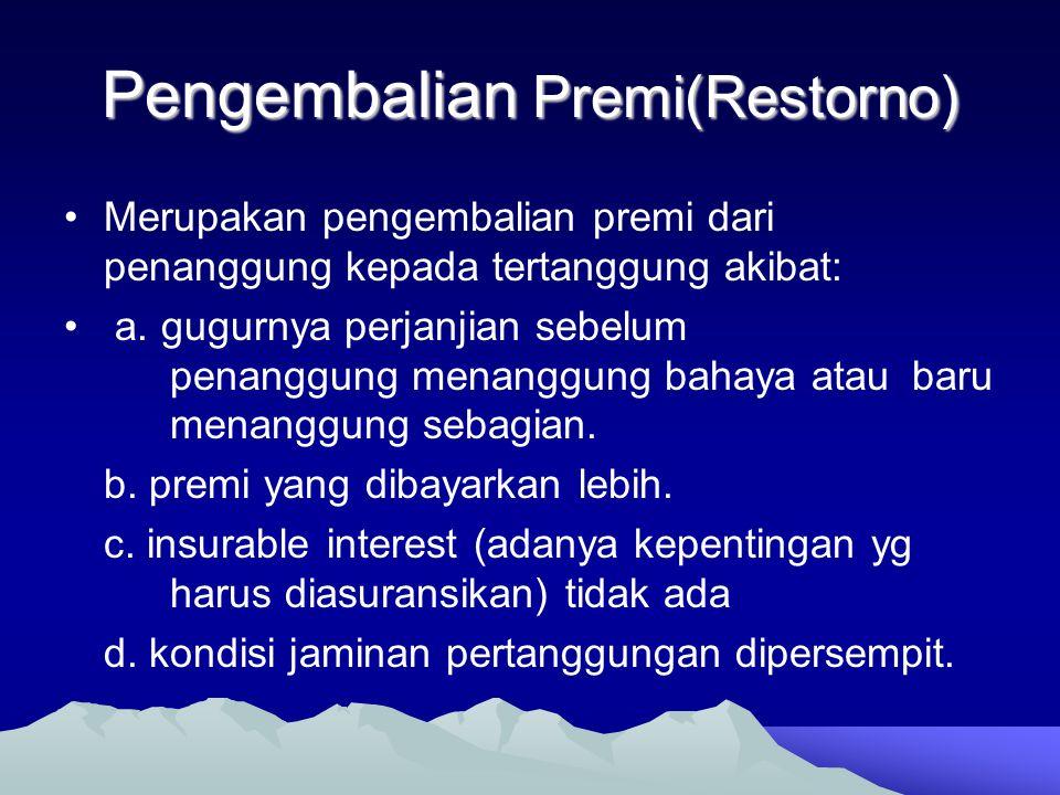 Pengembalian Premi(Restorno)