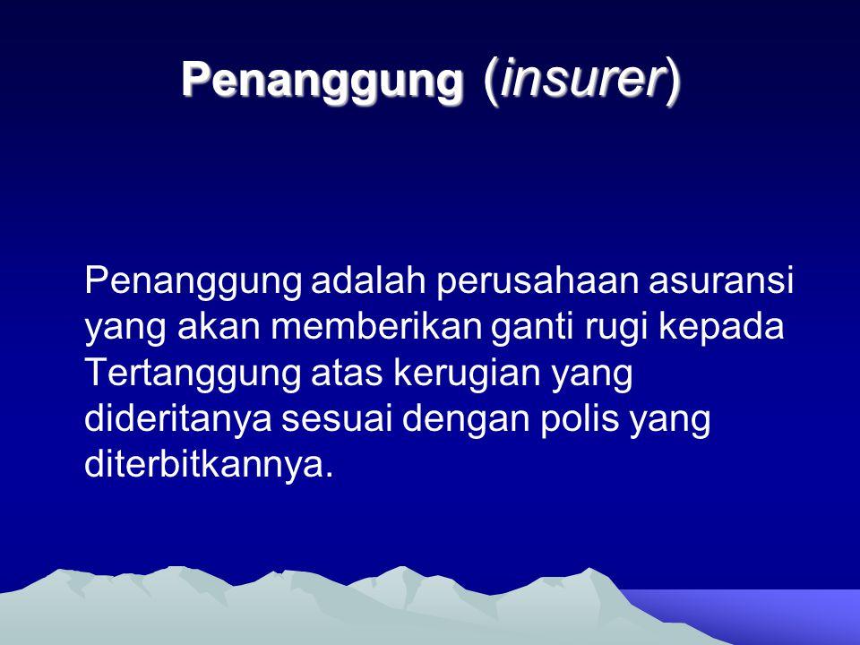 Penanggung (insurer)