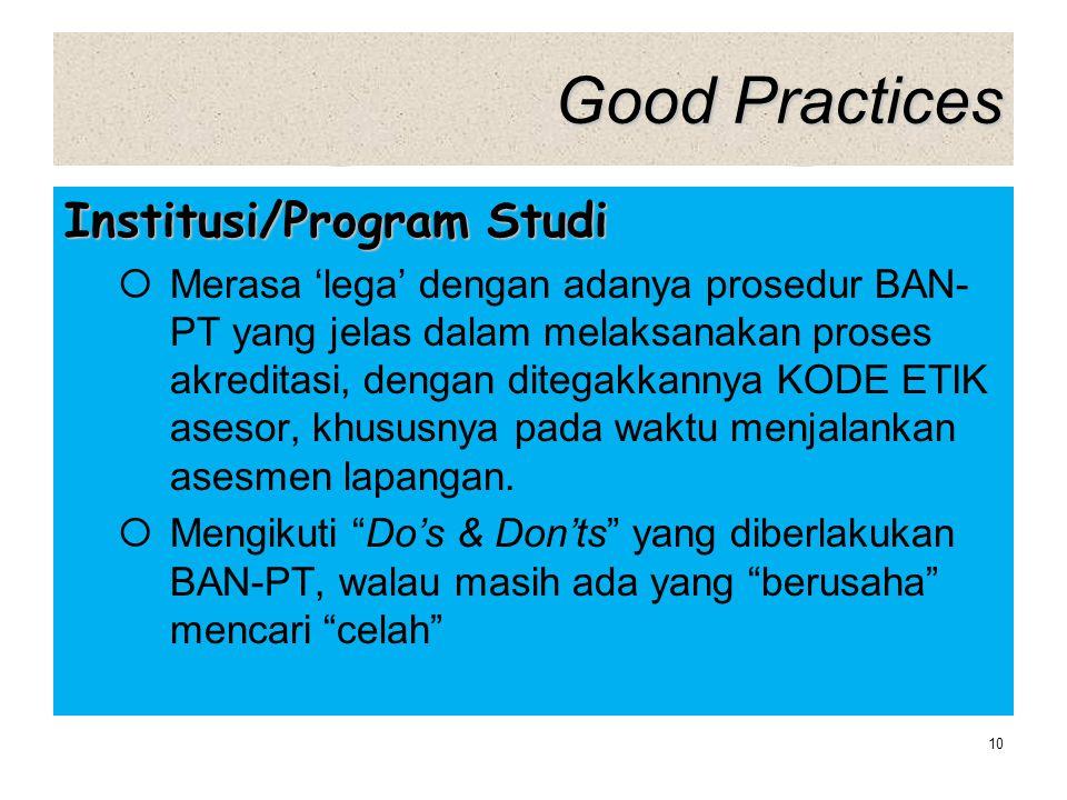 Good Practices Institusi/Program Studi