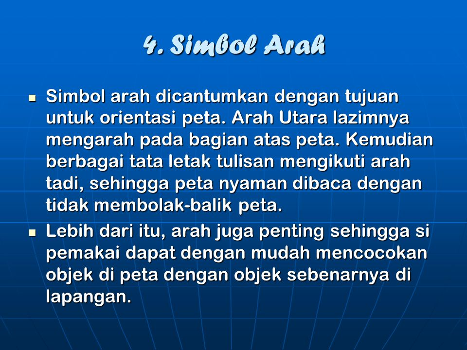 4. Simbol Arah