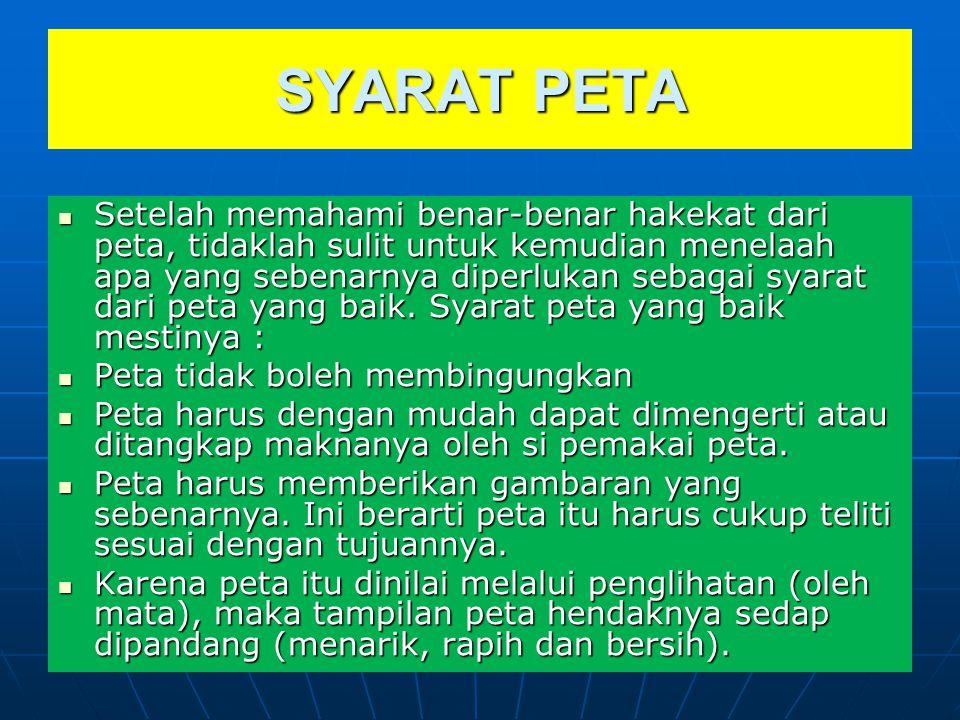 SYARAT PETA