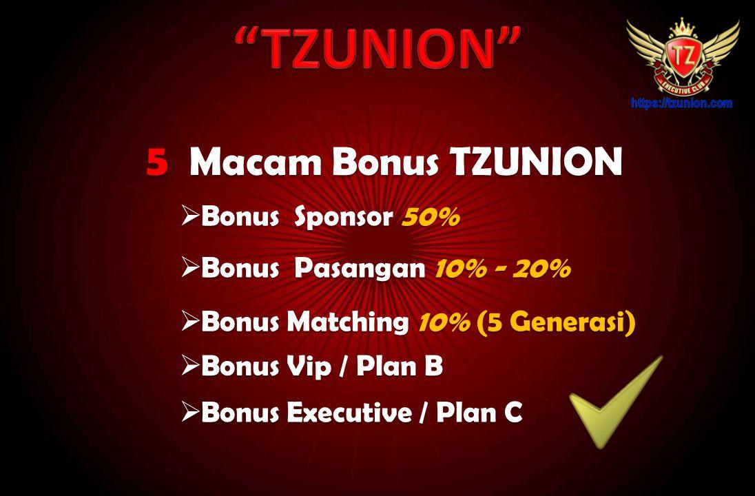 TZUNION 5 Macam Bonus TZUNION Bonus Sponsor 50%