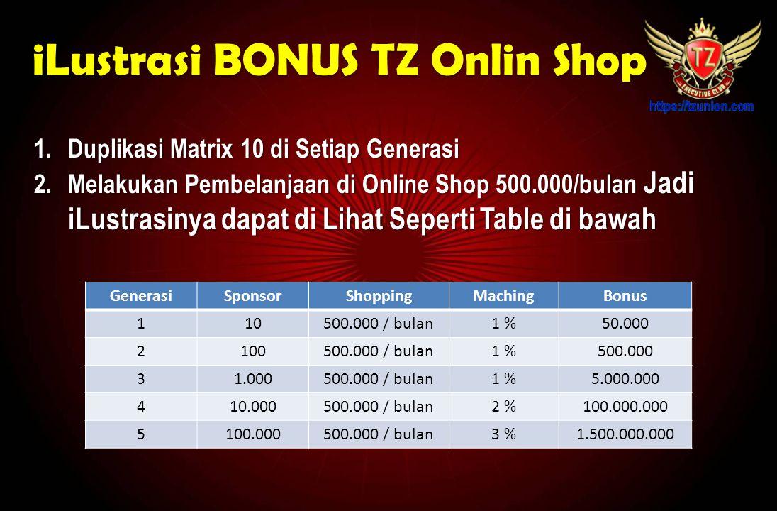 iLustrasi BONUS TZ Onlin Shop