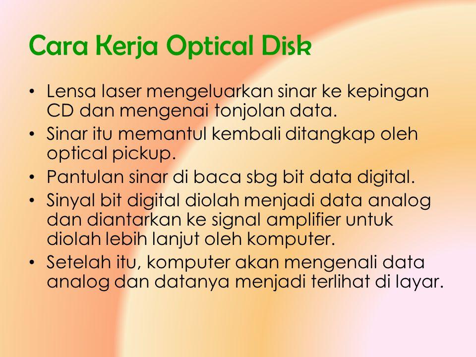 Cara Kerja Optical Disk