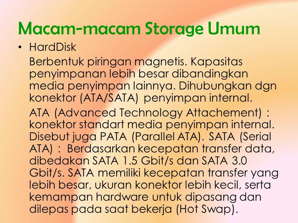 Macam-macam Storage Umum