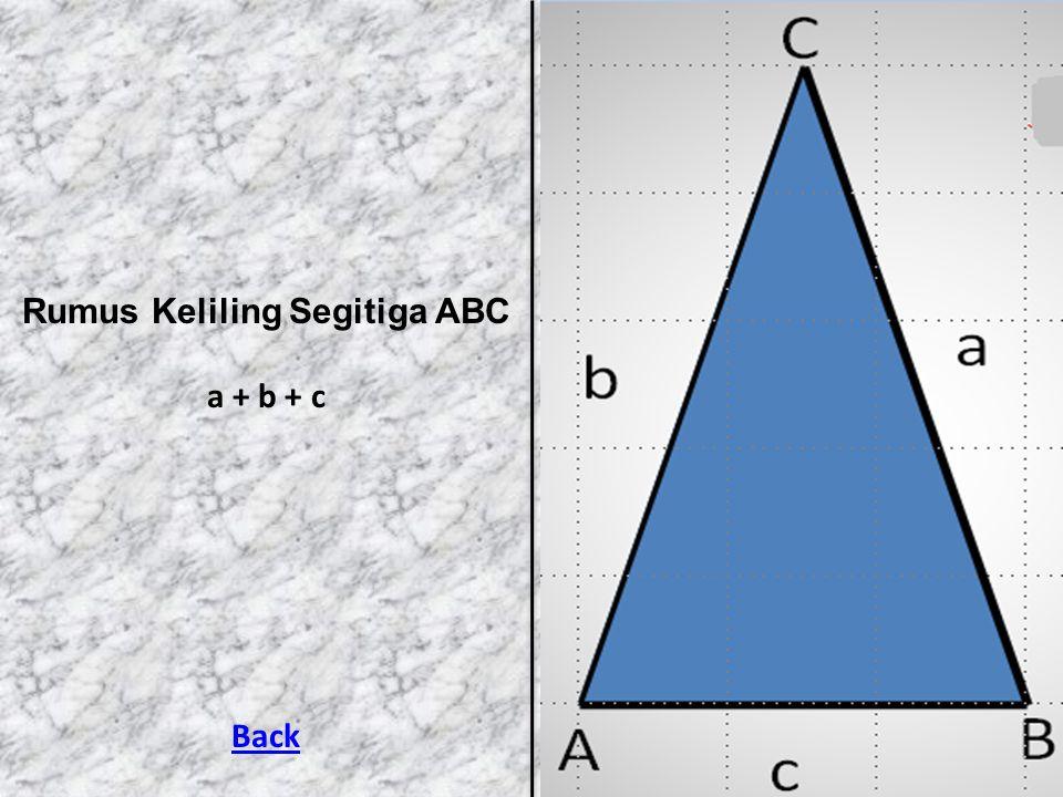 Rumus Keliling Segitiga ABC