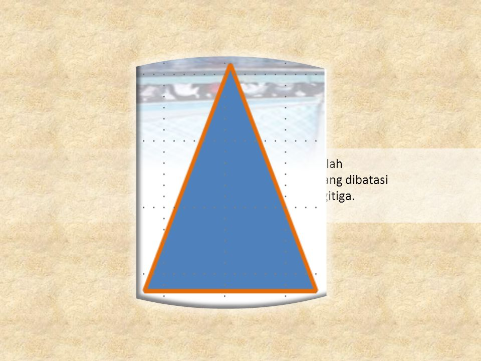 Ukuran daerah yang dibatasi oleh sisi – sisi Segitiga.
