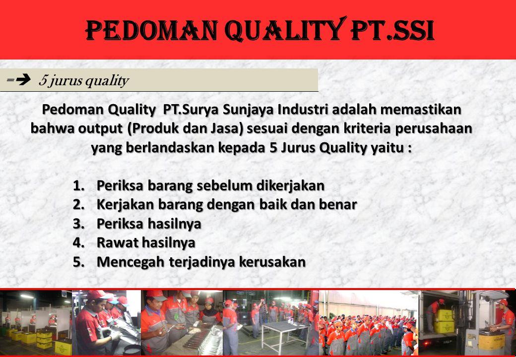 PEDOMAN QUALITY PT.SSI = 5 jurus quality