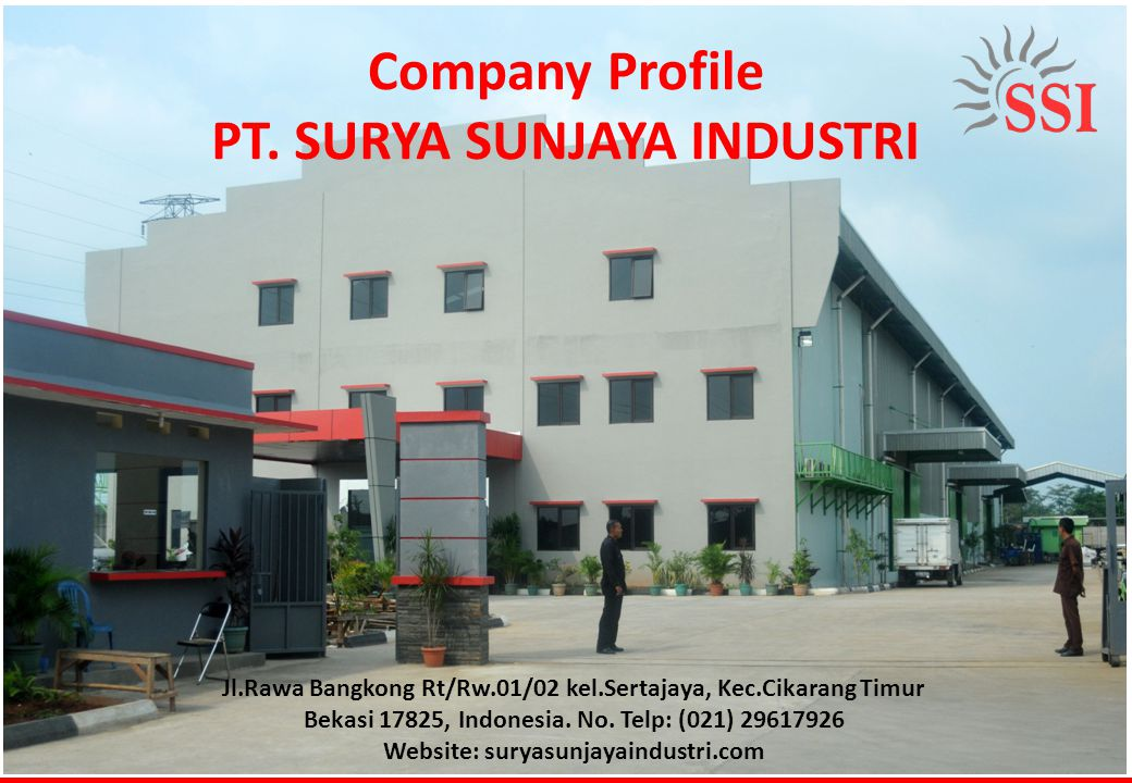 Company Profile PT. SURYA SUNJAYA INDUSTRI