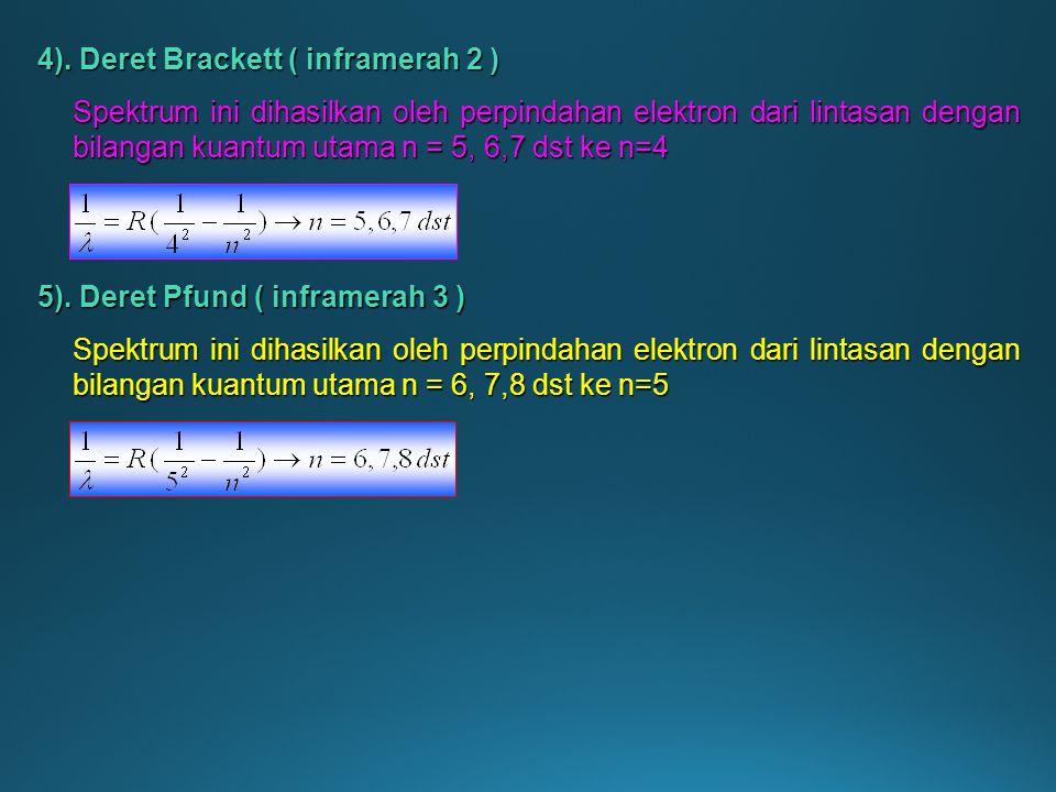 4). Deret Brackett ( inframerah 2 )