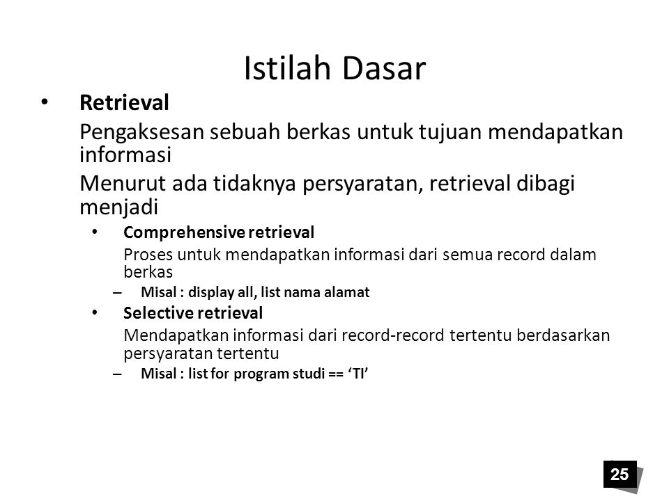 Istilah Dasar Retrieval